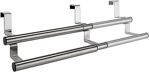 Handtuchhalter Küche ausziehbar 10-10cm Edelstahl 10Stangen aufhängen  Schrank Tür