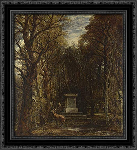 Cenotaph to The Memory of Sir Joshua Reynolds 20x22 Black Ornate Wood Framed Canvas Art by John Constable