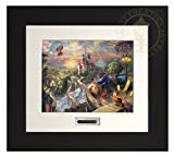Beauty and the Beast Falling in Love - Thomas Kinkade Disney Modern Home Collection (Espresso Frame)