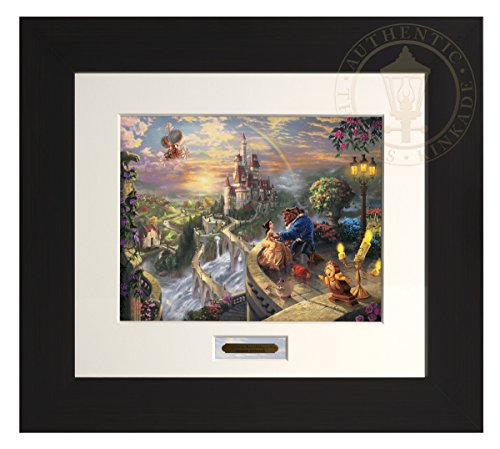 Beauty and the Beast Falling in Love - Thomas Kinkade Disney Modern Home Collection (Espresso Frame) by Thomas Kinkade