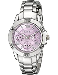 August Steiner Womens AS8143SSPU Silver Quartz Watch with Periwinkle Dial and Silver Bracelet