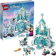 LEGO Disney Princess Elsa's Magical Ice Palace 43172 Toy Castle Building Kit with Mini Dolls, Castle Plays