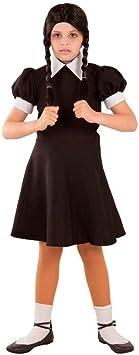 DISBACANAL Disfraz de Miércoles para niña - -, 8 años: Amazon.es: Juguetes y juegos