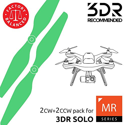 - MAS Propellers for 3DR Solo in Green - x4 in Set
