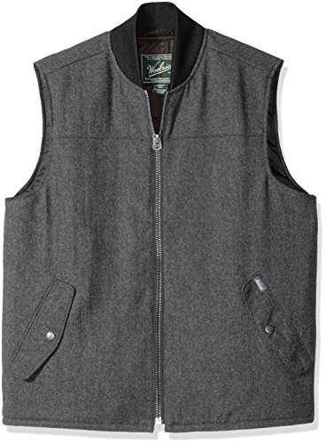 (Woolrich Men's Bear Claw Wool Vest, Gray, Extra Large)