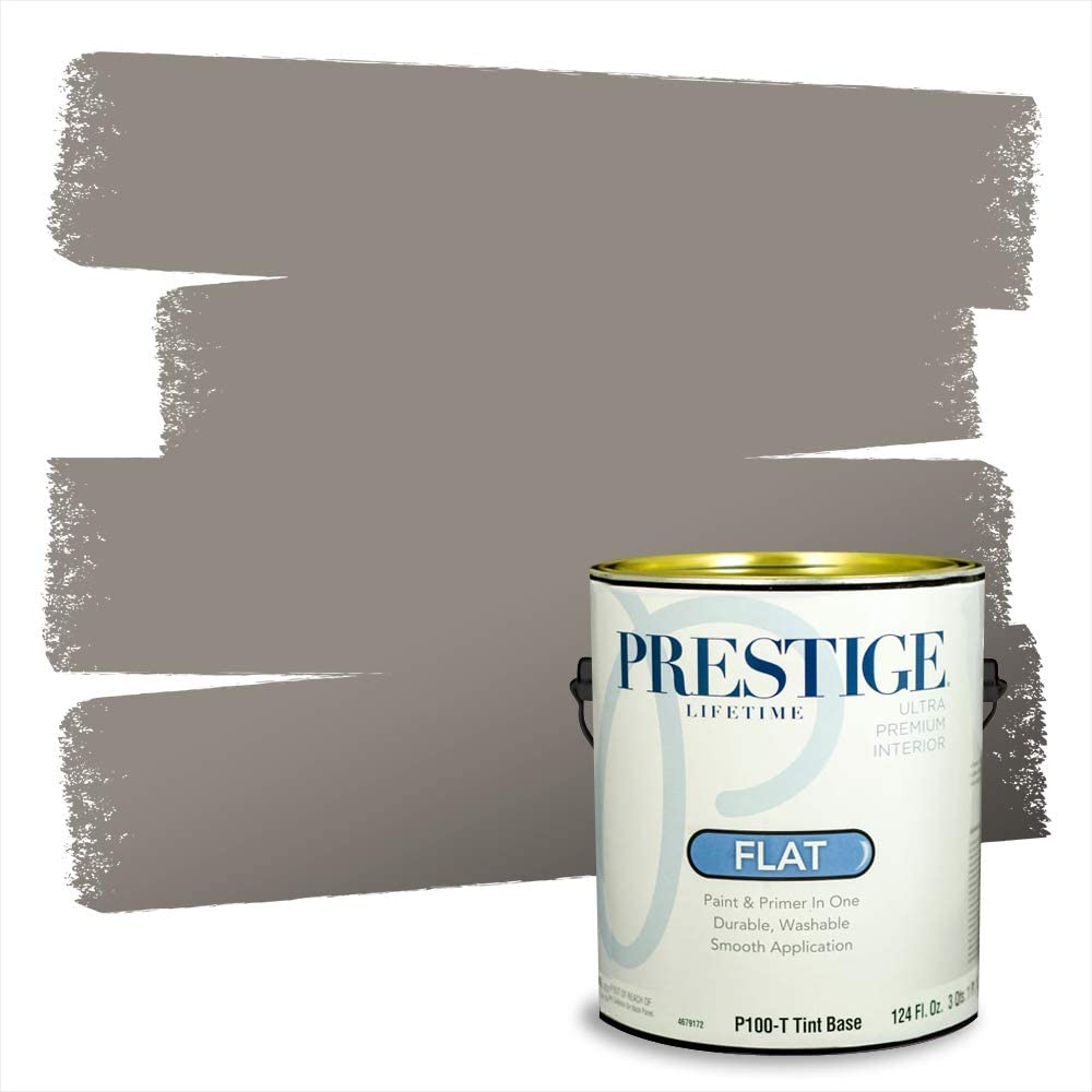 Amazon Com Prestige Paints Interior Paint And Primer In One 1 Gallon Flat Comparable Match Of Sherwin Williams Dovetail Home Improvement