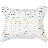 Pehr Designs Painted Dots Sham With Reversible Citron Stripe, Multi