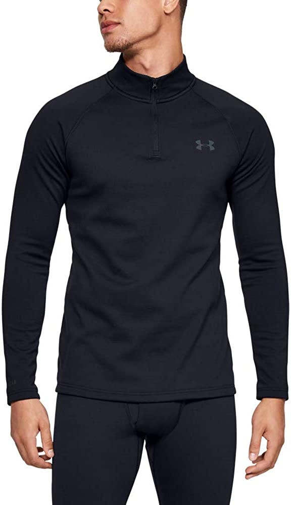 Under Armour Mens Packaged Base 4.0 1/4 Zip T-Shirt