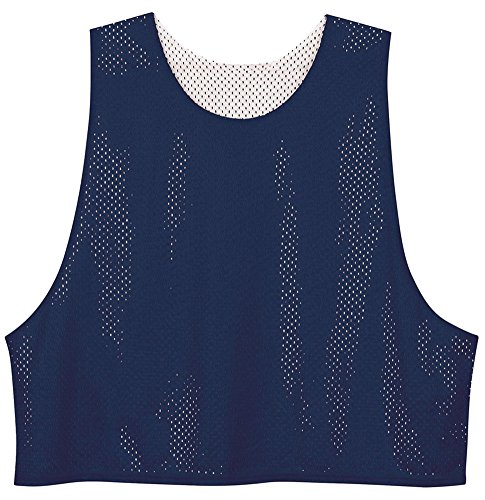 A4 Drop Ship Adult Lacrosse Reversible Mesh Practice Jersey, Medium, Navy/White