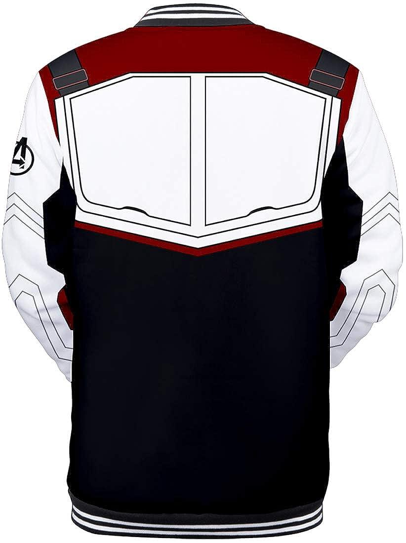 FLYCHEN Ragazzi e Bambini Uniforme da Baseball Quantum Realm Stampa Logo Avengers Endgame Film Superhero Iron Man Boys Jacket Cosplay Costumes