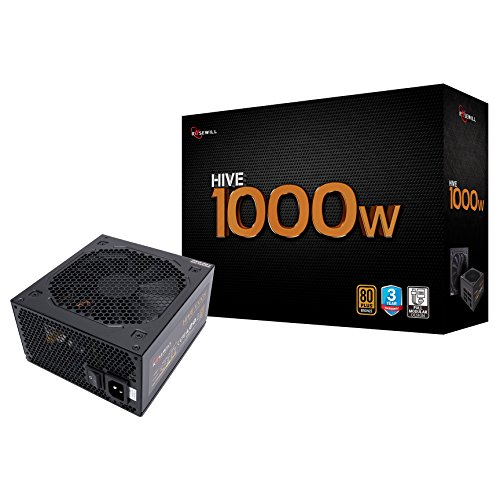 - Rosewill Gaming 80 Plus Bronze 1000W Power Supply/PSU, HIVE Series 1000 Watt 80 Plus Bronze Certified PSU with Silent 135mm Fan and Auto Fan Speed Control, 3 Year Warranty