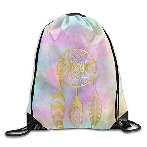 FESDCUTY Gold Gream Beam Mouth Backpack Knapsack Backpack No
