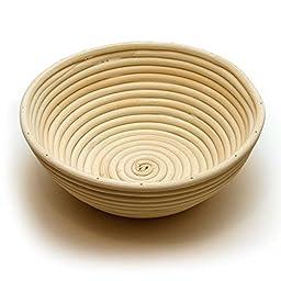 Happy Sales HSPB-85WL, Round Proofing Basket Banneton Brotform 8.5 Inch w/ LINER ¡¦