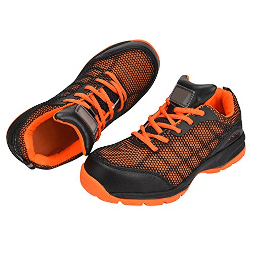 Optimal Women's Safety Shoes Work Shoes Protect Toe Shoes … Orange Black by Optimal Product (Image #4)