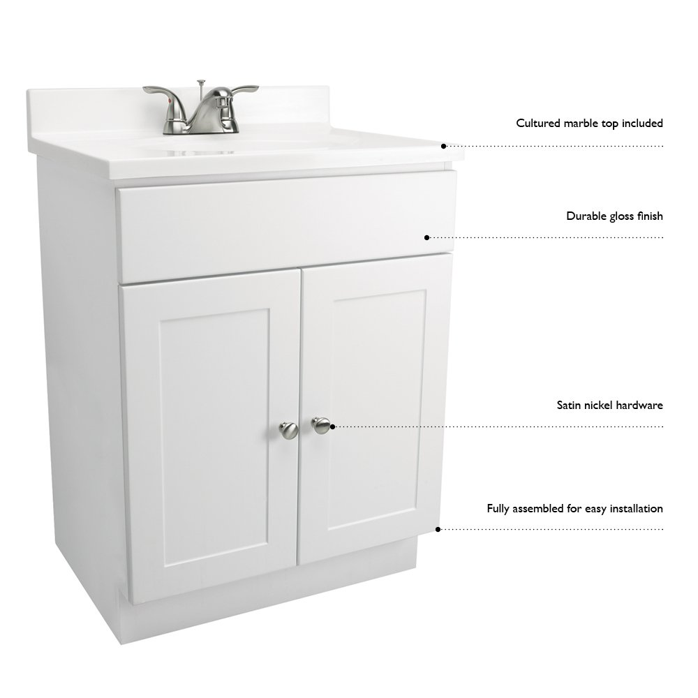 Revolving bathroom cabinet - Amazon Com Design House 541649 Vanity Combo Oak Vanity Bathroom Cabinet With 2 Doors 31 Inch By 19 Inch By 31 5 Inch Home Improvement