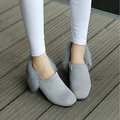Winter amp;xuezi Boots Fall Women's 1in 3 1 Black Gll Casual Buckle Gray Dress Fashion Leatherette Grey Chunky 4in Heel Boots nxYIpnwdXq
