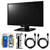 LG 24-Inch Widescreen LED-Lit Gaming Monitor (24GM77) with Xtreme Performance TV/LCD Screen Cleaning Kit, Xtreme 6 Outlet Power Strip & 2x General Brand HDMI to HDMI Cable 6'