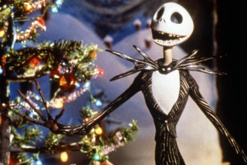 the nightmare before christmas christmas jack skellington tree 11x17 mini poster