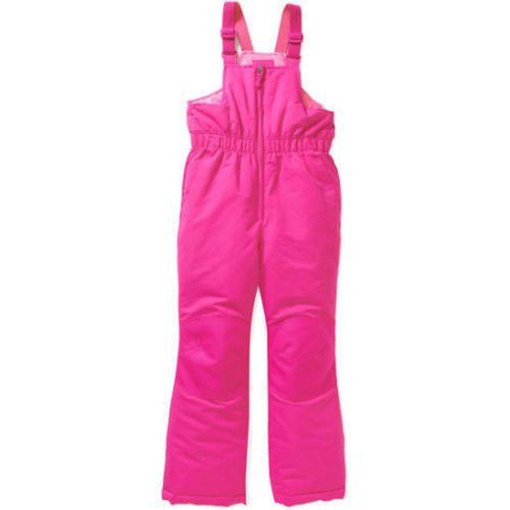 Faded Glory Girls Snow Bib Pants Small 6 6X Pink by Faded Glory
