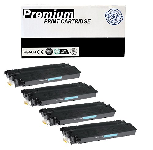 JSL 4pk E40 Black Toner Cartridge For Canon PC920 PC921 PC940 ()