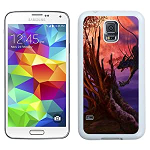 Beautiful And Unique Designed With Beings Tree Moon Dragon Spider Cat (2) For Samsung Galaxy S5 I9600 G900a G900v G900p G900t G900w Phone Case