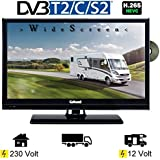 Gelhard GTV2042 LED TV 20 Zoll Wide Screen DVB/S/S2/T2/C, DVD, USB, 230/ 12 Volt