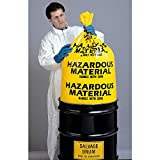 Grainger Approved Hazardous Waste Bags 55 Gal. Yellow Pk24 3WNA6