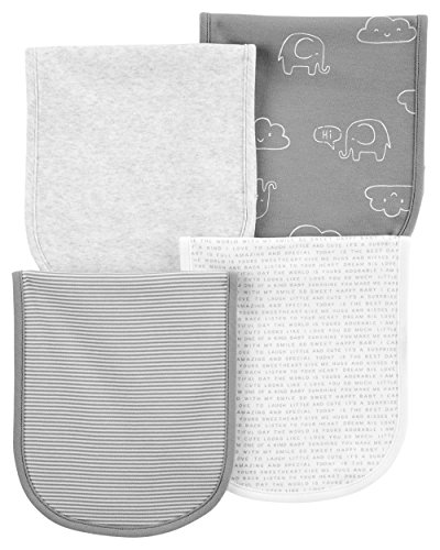 (Carters 4-Pack Unisex Burp Cloths )