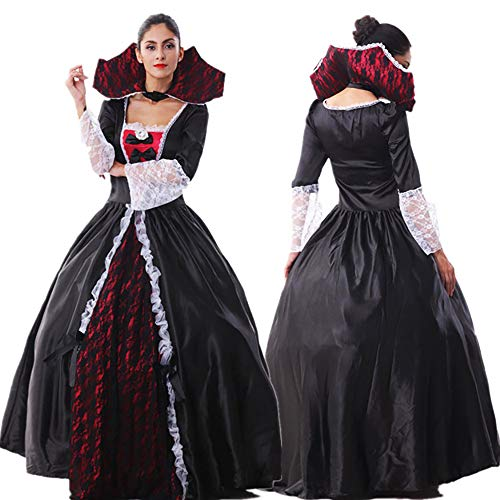 Party Nero Feste Tema Vampire Sexy Per Cosplay Dress Long Suit Skirt Di Zombie Queen Anime Costume Halloween Strega Carnevali Fancy Adulto A OHaxngS
