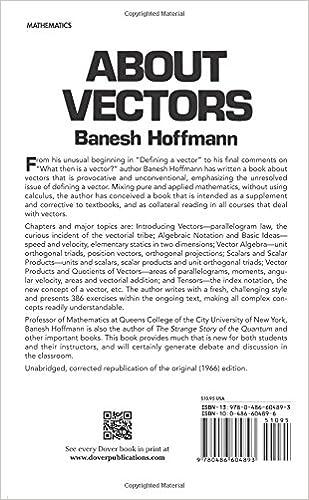 About Vectors (Dover Books on Mathematics): Banesh Hoffmann ...