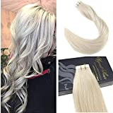 remy platinum - Ugeat Tape in Blonde Human Hair Extensions 22