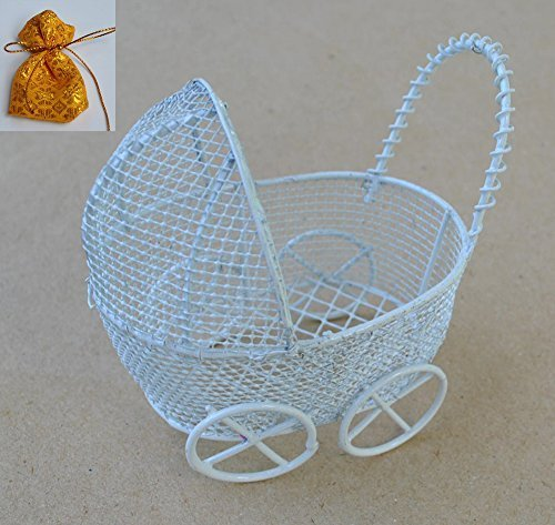 wire baby carriage centerpiece - 4