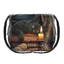 Nemesis Now Witching Hour Lisa Parker - Bolsa de mensajero (33 cm), color marrón, PU y lienzo, 40 cm