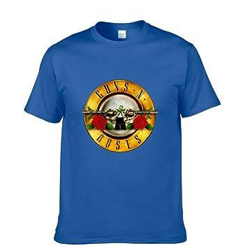JJZHY Camiseta de Manga Corta Rock Guns N Roses Camiseta GNR Band Casual de Algodón