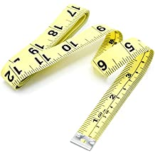60 Inch Soft Tape Measurement for Tailor or Weight Control Measure also Centimeter Scale on other side. (Yellow)