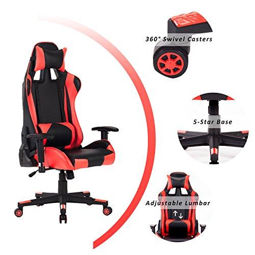 Homefun Computer Gaming Chair Ergonomic Pc Game Chair