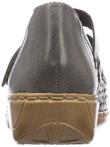 Grigio 41356 Dust Rieker Donna Ballerine T7w4UC