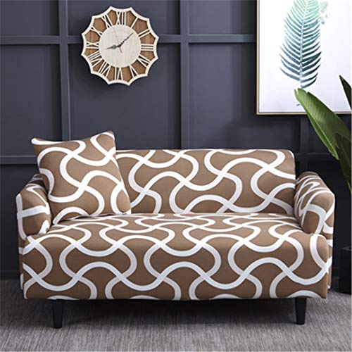 (Ranferuyk Universal 1/2/3/4 Seater Sofa Cover Big Elasticity Couch Covers Love-Seat Stretch Furniture Flexible Slipcovers Home Printing 6414 3 seat 190-230cm)