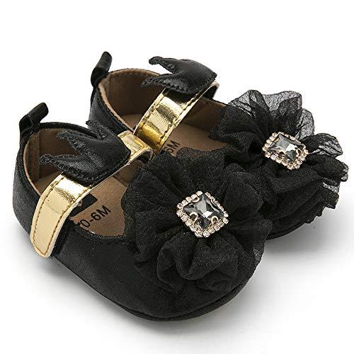 3f1a740d0f0f BubbleColor Baby Girls Dress Shoes Infant Toddler Prewalker PU Soft Sole  Party Princess Crib Shoes