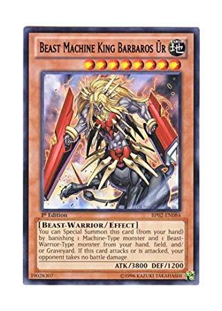 Yu-Gi-Oh! English Version BP 02-EN 084 Beast Machine King Barbaros? R Beast Mythical King Barbaros Ur (Rare: Black) 1st Edition