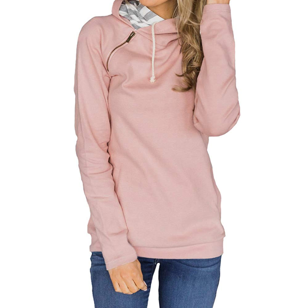 TONSEE Women Long Sleeve Solid Sweatshirt Pullover Casual Tops Sweatshirt
