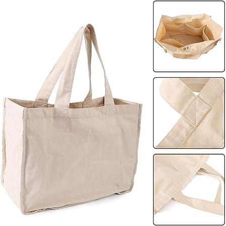 Yongirl - Bolsas de algodón orgánico reutilizables, tamaño grande, lavable a máquina, respetuoso con el medio ambiente, biodegradables, plegables, duraderas, ideales para bolsas de manualidades: Amazon.es: Hogar