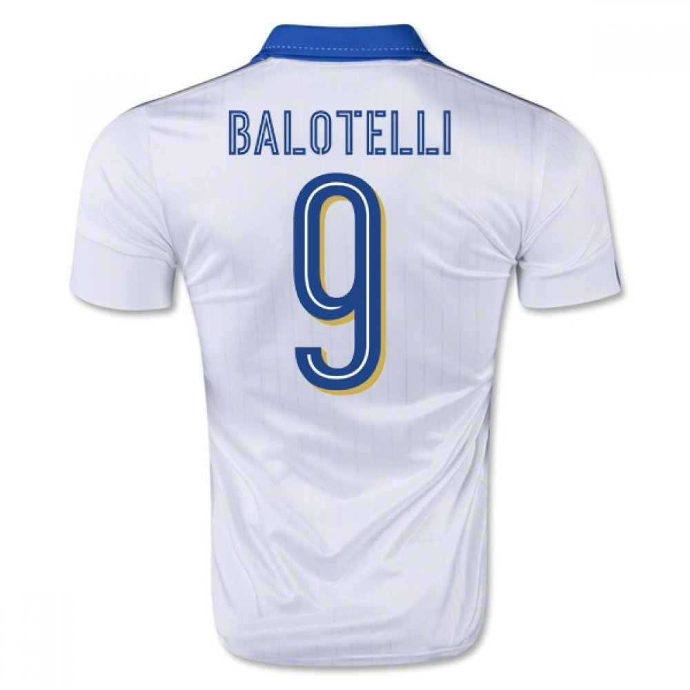 2015-16  Away Football Soccer T-Shirt Trikot (Mario Balotelli 9) - Kids