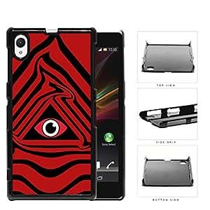 Eye Of Providence Illuminati Symbol Red Hard Plastic Snap On Cell Phone Case Sony Xperia Z1