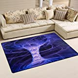 "DEYYA Home Contemporary Powerful Tornado Area Rugs 3'25"" x 5′, Modern Non-Slip Doormats Carpet for Living Dining Room Bedroom Hallway Office Easy Clean Footcloth Review"