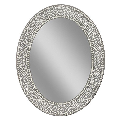 - 23 in. x 29 in. Opal Mosaic Oval Mirror
