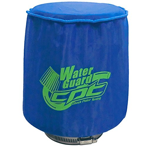 "CPT Universal Water Guard Short Ram Cold Air Intake Pre-Filter Air Filter Cover CPT-WG-M-B (Medium 5.50""Wx6.75""H, Blue)"
