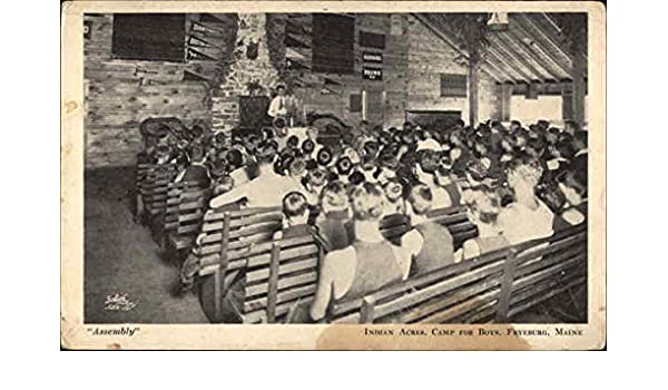 Amazon com: Assembly, Indian Acres, Camp for Boys Fryeburg