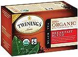 Twinings Breakfast Blend Organic Tea, 20 Count Tea Bags