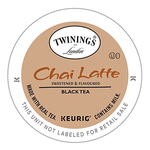 (Twinings of London Chai Latte Tea K-cups for Keurig, 12 Count)